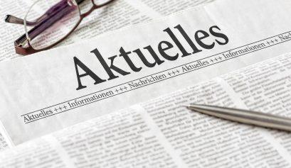 Zeitung mit der Überschrift Aktuelles