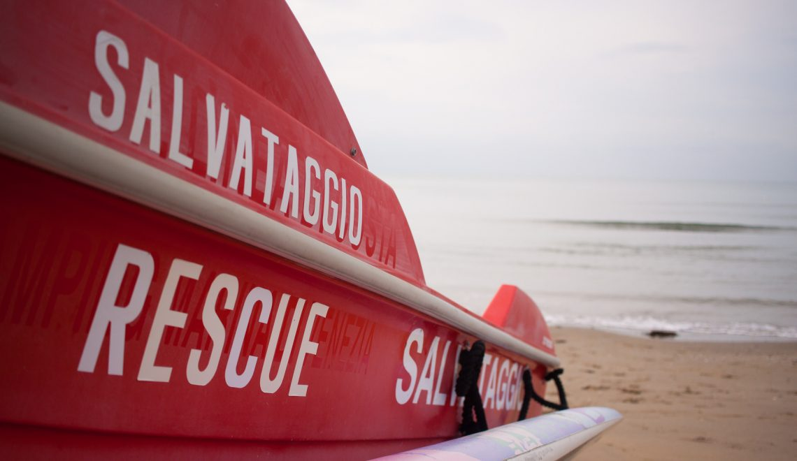 Rettungsboot am Strand