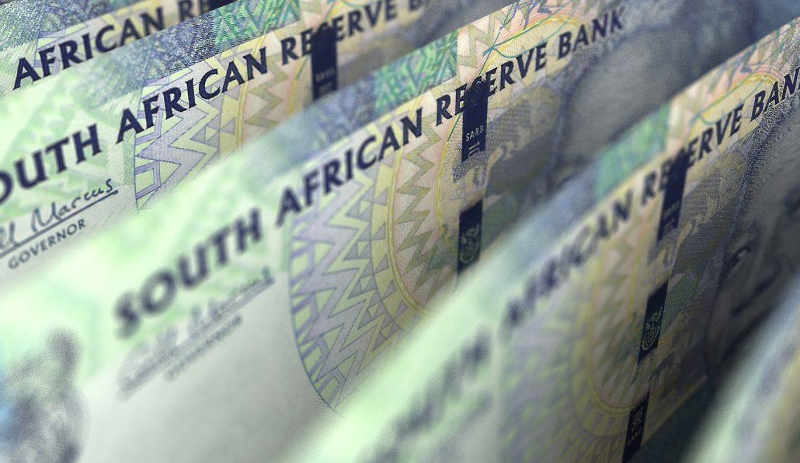 South African Rand Closeup