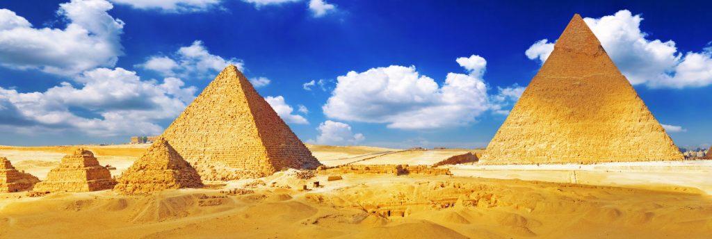 Great Pyramids Cairo .Egypt.