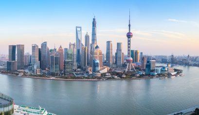 shanghai skyline panoramic view