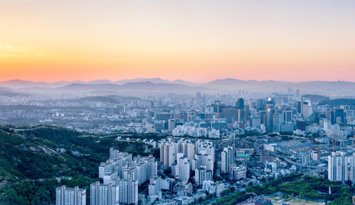 Seoul Panorama bei Sonnenaufgang