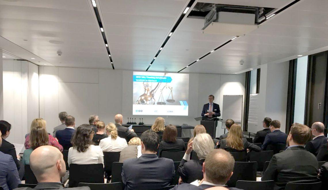 Rückblick 9. DICO Talk: Kartellrecht im Mittelstand / Praxistag Kartellrecht