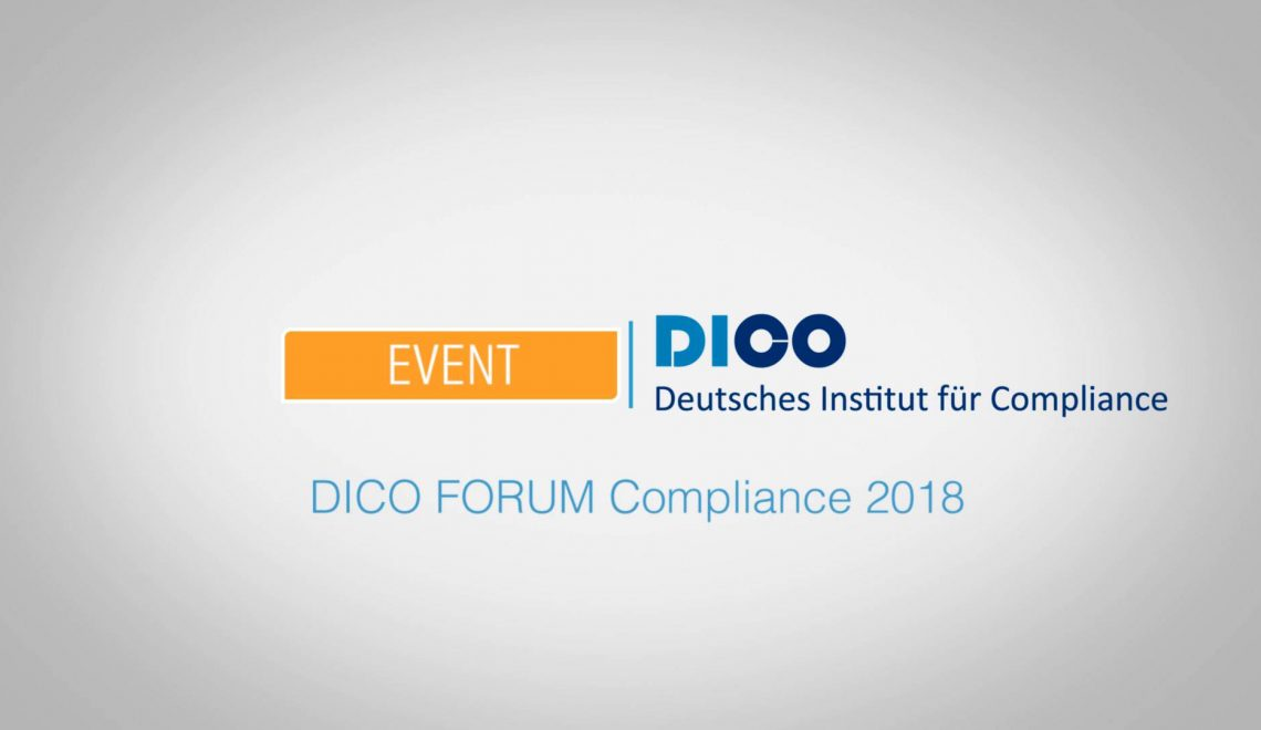 Eventfilm zum 5. DICO FORUM Compliance 2018