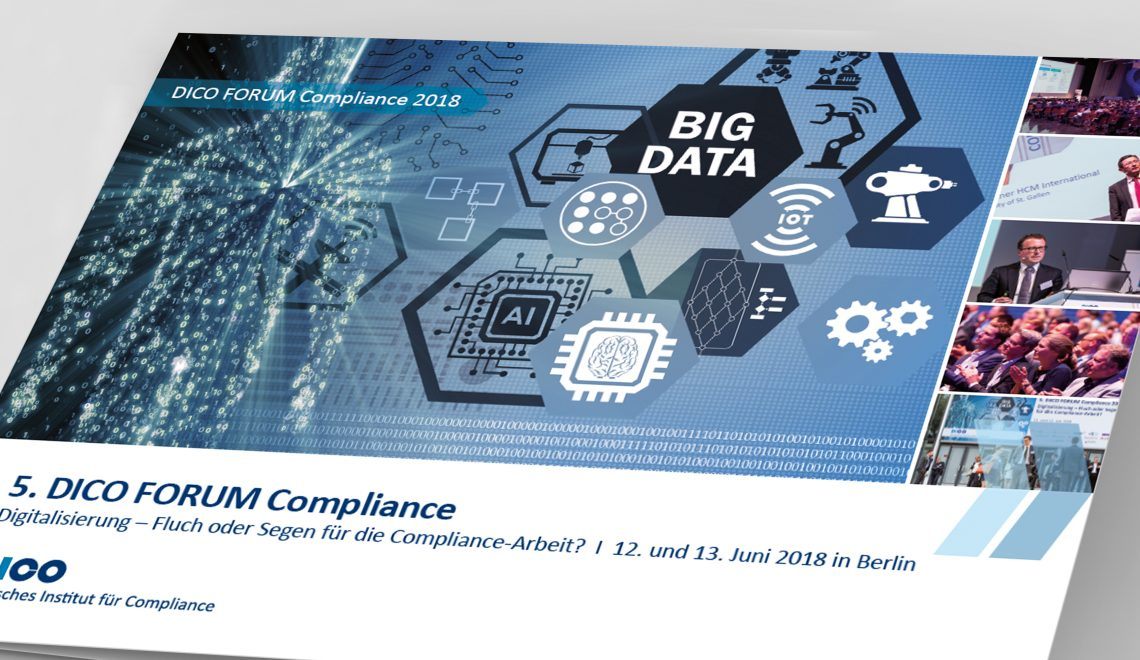 Booklet zum DICO FORUM Compliance 2018